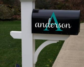 Mailbox Decal; Curb Appeal; Family Mailbox; Decal; Vinyl Mailbox Sticker; Mailbox Stickers; Curbside Appeal