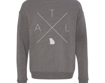 Atlanta Sweatshirt - ATL Home Sweater, Georgia Off Shoulder Sweatshirt