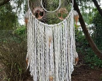 Large (12in) Four Seasons Tree of Life Dream catcher/Wall Hanging/Nursery Decor/Wedding Decor