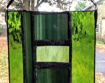 Sage green stained glass
