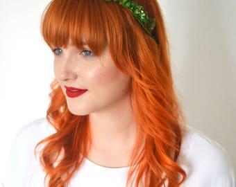 Green myrtle tiara