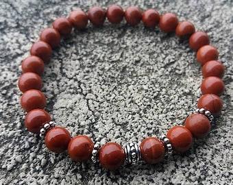 Énergétisé red Jasper bracelet