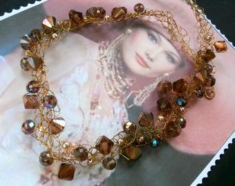 For wedding SWAROVSKI Crystal mesh necklace