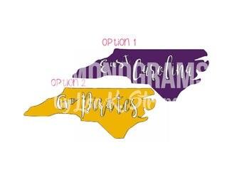 UNC East Carolina - State - University - Pirates -  Decal - Sticker