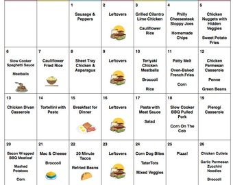 August 2017 Meal Plan | August Menu Plan | Weekly Grocery List w/ Recipes |  Monthly Menu | Grocery List | Weekly Menu | Back To School