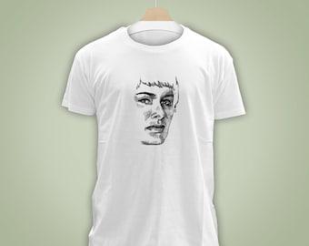 T-shirt coton biologique portrait reine queen Cersei Lannister Game of Thrones illustration dessin