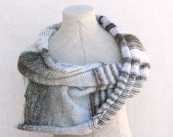 Gray oversized shawl / Mohair shawl wrap, Knitted blanket throw scarves, Knit shoulder warmer, Autumn silk scarf, Gift shawl oversized snow1