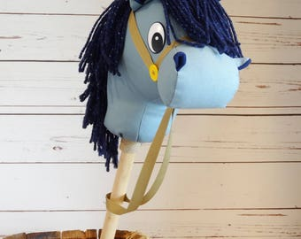 Stick Horse! Hobby Horse !  Sparky Sheriff Callie Inspired ! Little Cowgirl ! Christmas ! Haloween ! Birthday! Handmade and Ready to Ship!