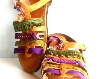 Boho barefoot sandals, leather shoes, handmade shoes, bohemian sandals, summer sandals, sandals leather, slip on sandals, gladiator shoes