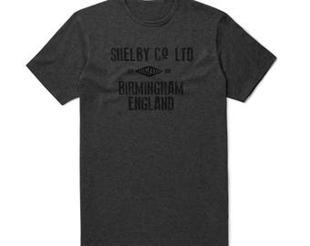 Shelby Co. Birmingham England Mens Vintage style T-shirt -  Inspired by Peaky Blinders. 1920's Peaky Blinder T-shirt