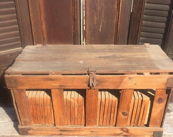 Vintage Wood Berry Crate