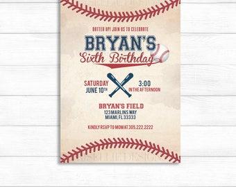 Baseball Birthday Invitation, Baseball Invitation, Baseball Baby Shower Invitation, Baseball Theme, Batter Up Baseball Birthday