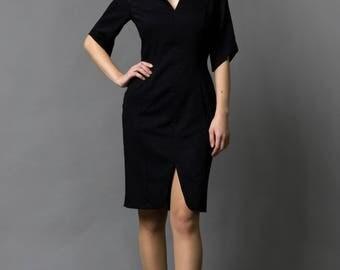 Elegant Black Dress by TAVROVSKA, Japanese Style