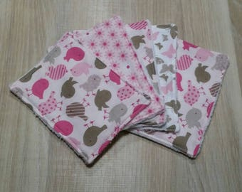 5 large wipes washable cotton and sponge for baby or MOM.