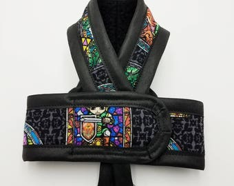 ZELDA STAINED GLASS Cat Harness by ComfyStyles / Walking Butterfly Vest / Ultra Light Design/ Sphynx Cat Clothes & all breeds