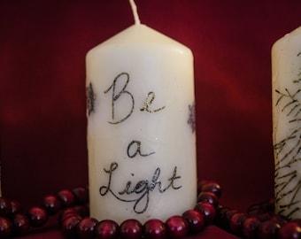 Be a Light - Customized Pillar Candle