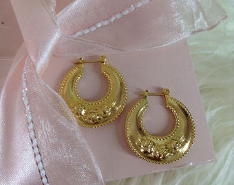 Gold hoop earrings  earrings 14kt gf  hoop earrings hoop earrings gold earrings gold jewelry gold earrings