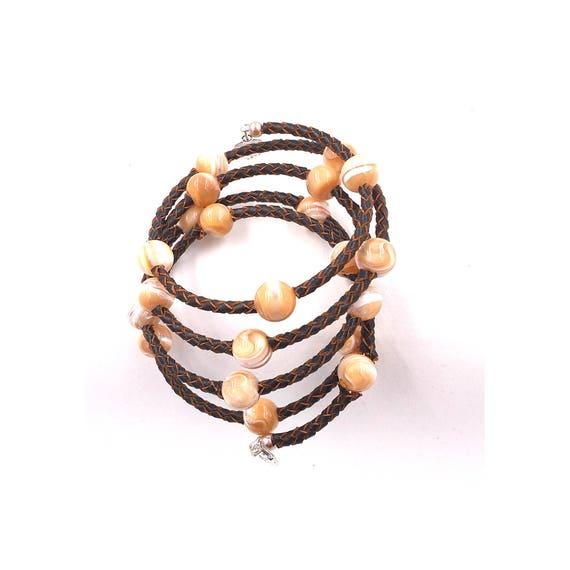 Holiday Sale, Essential Oil Diffuser Bracelet, Leather pearls, diffuser jewelry, diffuser bracelet, leather diffusing bracelet, gift for her