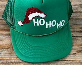 HO HO HO - Glitter Trucker Hat
