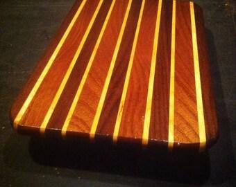 Large Hardwood Cutting Board, Walnut, Sapele, Maple