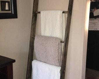Custom Blanket Ladder, Chic Decorative Ladder, Wood Ladder, Rustic Ladder, Wooden Ladder, Towel Ladder, Quilt Ladder