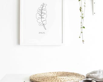 Banana Leaf Print - Eddie and The Giant Peach