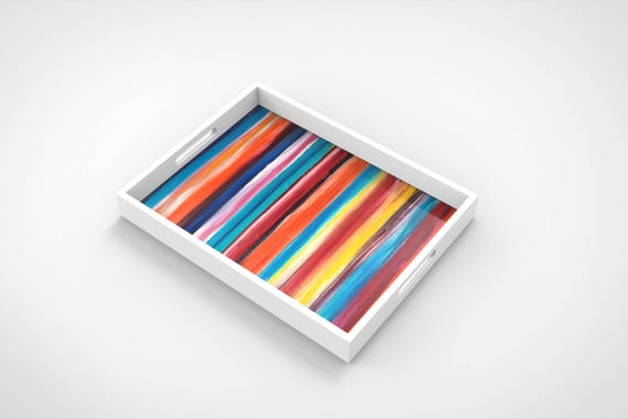 """Lacquer Trays by Bruce Mishell titled """"Tutti - Fruti"""""""