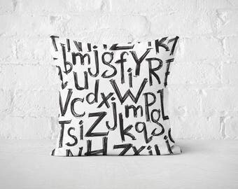 Alphabet Pillow Cases | Letters Throw Pillow Covers | Accent Pillows | Typography Bed Pillow Cases | Decorative Pillows | Boho Pillows