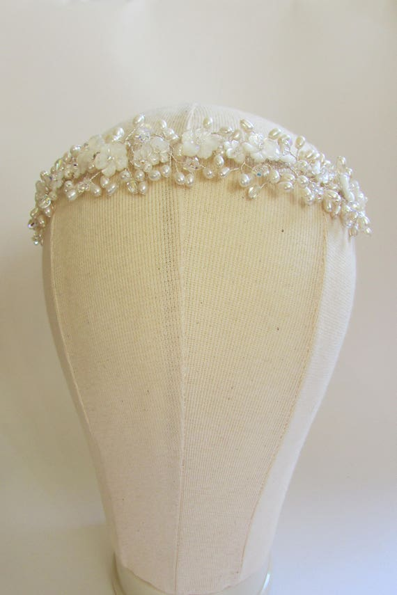 Mother of Pearl & Swarovski Crystal Tiara
