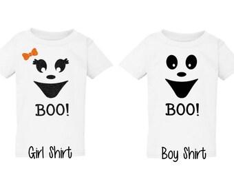 Ghost Halloween Shirt-Kids Halloween Shirt-Ghost Halloween Outfit-Cute Ghost Shirt-Cute Halloween Shirt-Boy Girl Halloween Shirt
