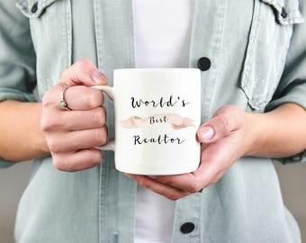 World's Best Realtor Mug, Real Estate Agent Mug, Real Estate Mug, Realtor Mug, Thank You, Gift for Realtor, Real Estate Agent, Coffee Mug