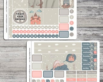 Floating on Clouds - Mini Happy Planner - 2 Planner Sticker Sheets (Matte Only)