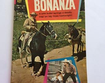1967 BONANZA Vintage Comic Book Little Joe Hoss Pondarosa Cowboys