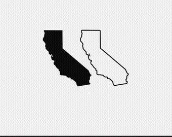 california state outline svg dxf file stencil monogram frame silhouette cameo cricut clip art commercial use