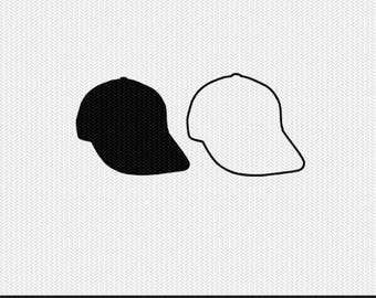 hat outline svg dxf file stencil monogram frame silhouette cameo cricut clip art commercial use