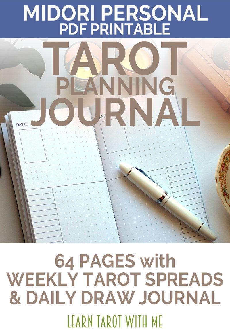 Weekly Tarot Reading I Healingtarotnet: DECEMBER 2017 Midori Personal PDF Printable Tarot Journal