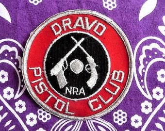 NRA Dravo Pistol Club ...  Vintage Souvenir Collectible Patch