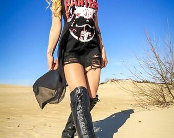 Shredded 90's Vintage Pantera T Shirt Dress, Pantera, Concert Clothing, Concert Shirt, Vintage Shirt, Pantera Shirt, Concert Dress