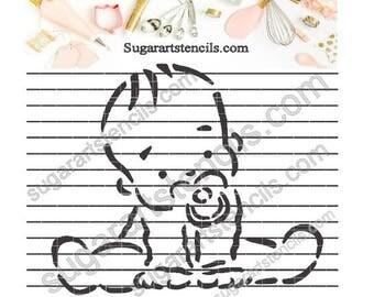Baby shower cookie Stencil  NB1233