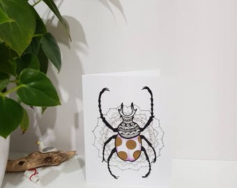 Beetle / Insect Greeting Card