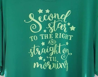 Size L unisex - Ready to Ship - Second Star to the Right