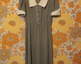 Algo Ettes Vintage Checkered Dress