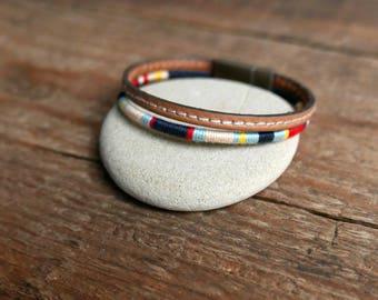 Mens bracelet, Boyfriend gift, Mens gift, Men leather Bracelet, Hipster, Brother gift, Boho bracelet, Bracelet for men, Mens jewelry, Gift