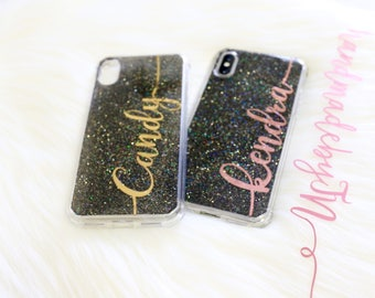 Personalized Glitter Phone case iPod Touch 6th Generation Case iPod Touch 5th Generation case Personalized Gift iPhone case