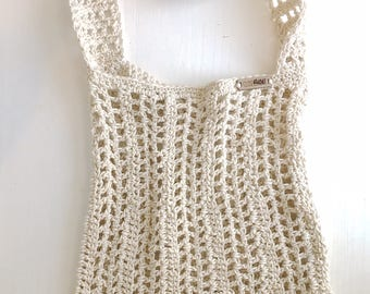 Mission Market Bag // Crochet // Slouchy Bag // Natural Cotton // CloseKnit