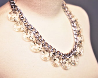 ROUND - Chunky Ring and Chain Necklace