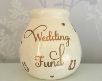 Ceramic Money Bank, Money Box, Money Bank, Wedding Gift, Engagement Gift, Money Pot, Wedding Fund, Personalised Money Bank, Savings Jar.
