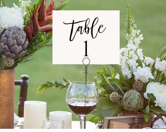 Printable Wedding Table Number Card, Seating Table Card Template, Rustic Wedding, Instant Download, 100% Editable, Digital #018-103TC
