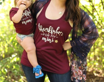 Mommy & me Thanksgiving shirts - Fall Mommy and me set - Girl Mom - Mother daughter matching set - Mama's girl Mama me - Mom and me shirts