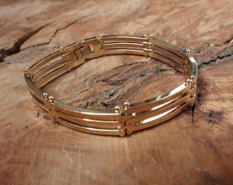 Triple Row Gold Plated Bracelet